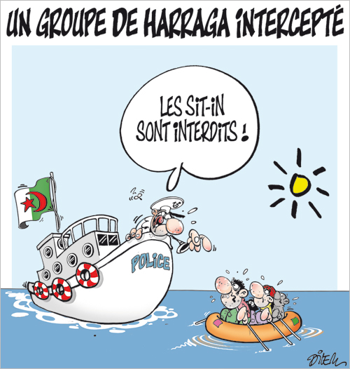 l'algérie en caricature 2 dans c'est la caricature qui parle. dilem13